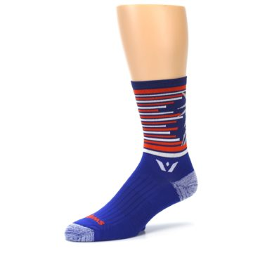Image of Blue Orange Statue of Liberty Men's Crew Athletic Socks (side-2-09)