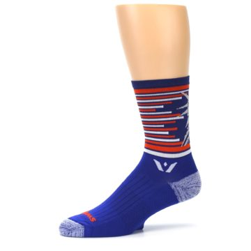 Image of Blue Orange Statue of Liberty Men's Crew Athletic Socks (side-2-10)
