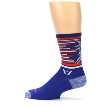 Image of Blue Orange Statue of Liberty Men's Crew Athletic Socks (side-2-12)
