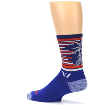 Image of Blue Orange Statue of Liberty Men's Crew Athletic Socks (side-2-13)