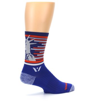 Image of Blue Orange Statue of Liberty Men's Crew Athletic Socks (side-1-23)