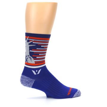 Image of Blue Orange Statue of Liberty Men's Crew Athletic Socks (side-1-24)