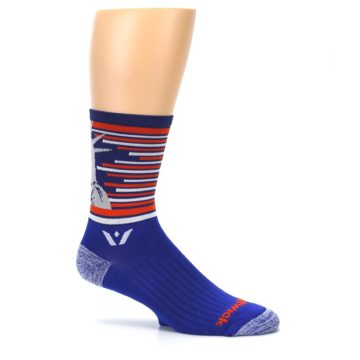 Image of Blue Orange Statue of Liberty Men's Crew Athletic Socks (side-1-25)