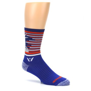 Image of Blue Orange Statue of Liberty Men's Crew Athletic Socks (side-1-26)