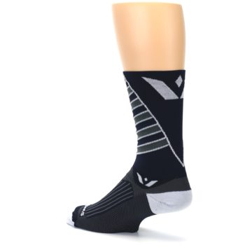 Image of Navy Vision Stripe Men's Tall Crew Athletic Socks (side-2-back-14)