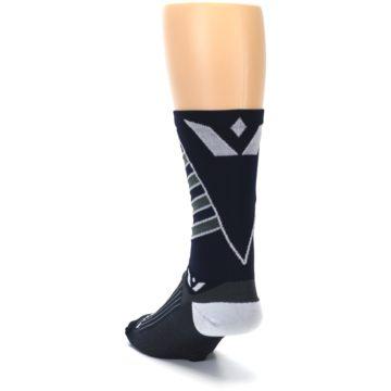 Image of Navy Vision Stripe Men's Tall Crew Athletic Socks (side-2-back-16)
