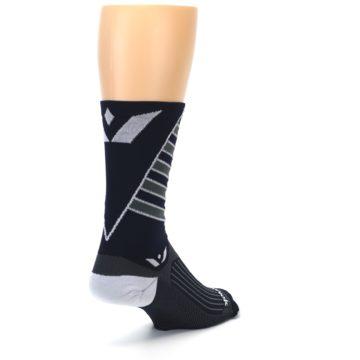 Image of Navy Vision Stripe Men's Tall Crew Athletic Socks (side-1-back-21)