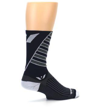 Image of Navy Vision Stripe Men's Tall Crew Athletic Socks (side-1-23)
