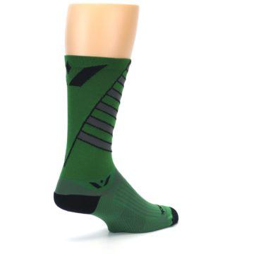 Image of Green Gray Vision Stripe Men's Tall Crew Athletic Socks (side-1-back-22)