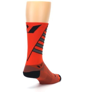 Image of Orange Gray Vision Stripe Men's Tall Crew Athletic Socks (side-1-back-21)