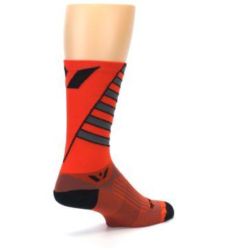 Image of Orange Gray Vision Stripe Men's Tall Crew Athletic Socks (side-1-back-22)