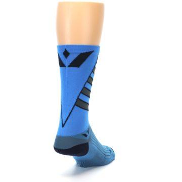 Image of Blue Gray Vision Stripe Men's Tall Crew Athletic Socks (side-1-back-20)
