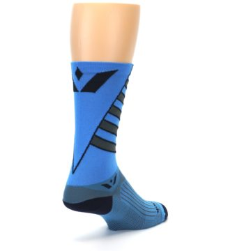 Image of Blue Gray Vision Stripe Men's Tall Crew Athletic Socks (side-1-back-21)