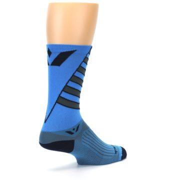 Image of Blue Gray Vision Stripe Men's Tall Crew Athletic Socks (side-1-back-22)