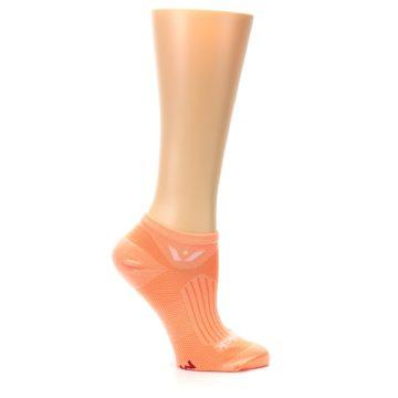 Image of Peach Solid Aspire Zero Women's No-Show Athletic Socks (side-1-25)
