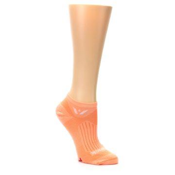 Image of Peach Solid Aspire Zero Women's No-Show Athletic Socks (side-1-27)
