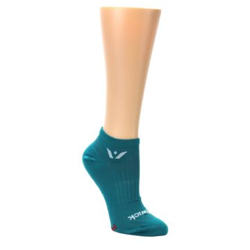 MEDIUM-Aqua-Solid-Aspire-Zero-Womens-No-Show-Athletic-Socks-Swiftwick