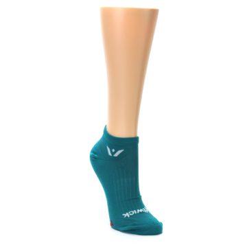 MEDIUM-Aqua-Solid-Aspire-Zero-Womens-No-Show-Athletic-Socks-Swiftwicks-Swiftwick