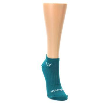 Image of Aqua Solid Aspire Zero Women's No-Show Athletic Socks (side-1-front-03)