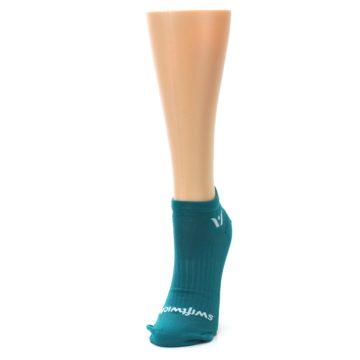 Image of Aqua Solid Aspire Zero Women's No-Show Athletic Socks (side-2-front-07)