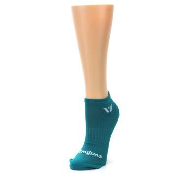 Image of Aqua Solid Aspire Zero Women's No-Show Athletic Socks (side-2-front-08)