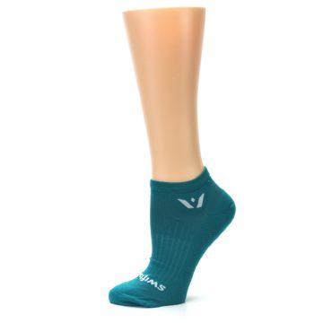 Image of Aqua Solid Aspire Zero Women's No-Show Athletic Socks (side-2-11)