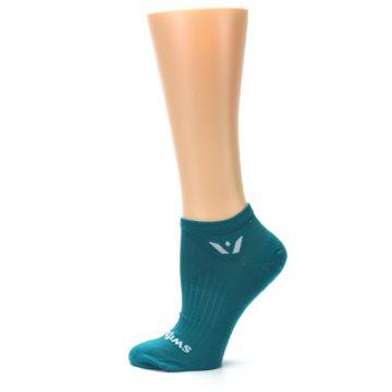 Image of Aqua Solid Aspire Zero Women's No-Show Athletic Socks (side-2-12)