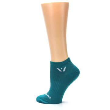 Image of Aqua Solid Aspire Zero Women's No-Show Athletic Socks (side-2-13)