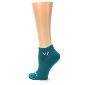 Image of Aqua Solid Aspire Zero Women's No-Show Athletic Socks (side-2-back-14)