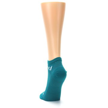 Image of Aqua Solid Aspire Zero Women's No-Show Athletic Socks (back-17)