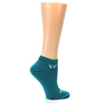 Image of Aqua Solid Aspire Zero Women's No-Show Athletic Socks (side-1-24)
