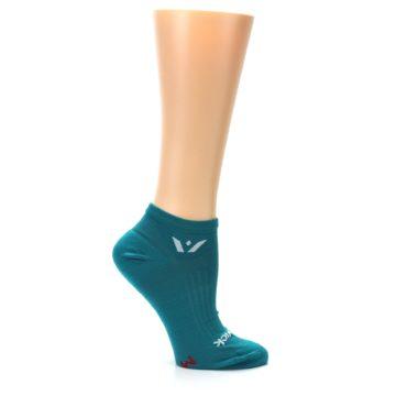 Image of Aqua Solid Aspire Zero Women's No-Show Athletic Socks (side-1-25)