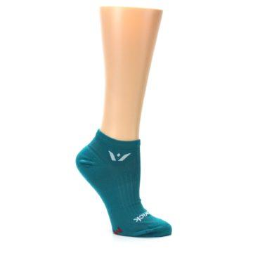 Image of Aqua Solid Aspire Zero Women's No-Show Athletic Socks (side-1-26)