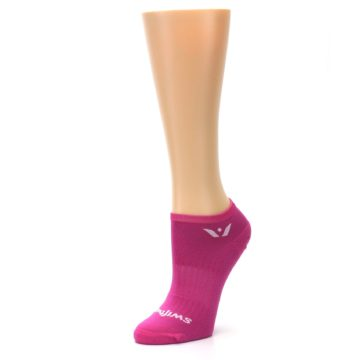 Image of Pink Solid Aspire Zero Women's No-Show Athletic Socks (side-2-09)