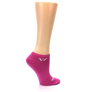 Image of Pink Solid Aspire Zero Women's No-Show Athletic Socks (side-1-24)