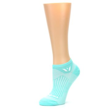 Image of Mint Solid Aspire Zero Women's No-Show Athletic Socks (side-2-10)