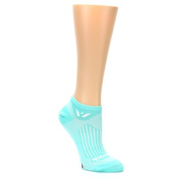 Image of Mint Solid Aspire Zero Women's No-Show Athletic Socks (side-1-27)