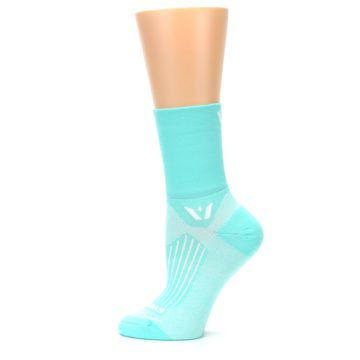 Image of Mint Solid Women's Crew Athletic Socks (side-2-12)