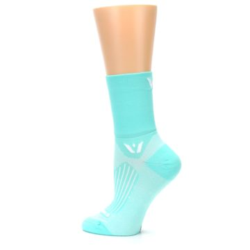 Image of Mint Solid Women's Crew Athletic Socks (side-2-13)