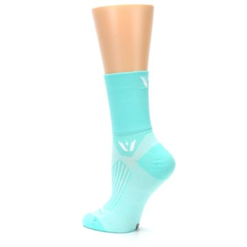Image of Mint Solid Women's Crew Athletic Socks (side-2-back-14)