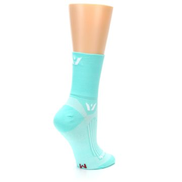 Image of Mint Solid Women's Crew Athletic Socks (side-1-23)