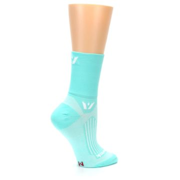 Image of Mint Solid Women's Crew Athletic Socks (side-1-24)