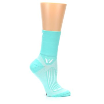 Image of Mint Solid Women's Crew Athletic Socks (side-1-25)