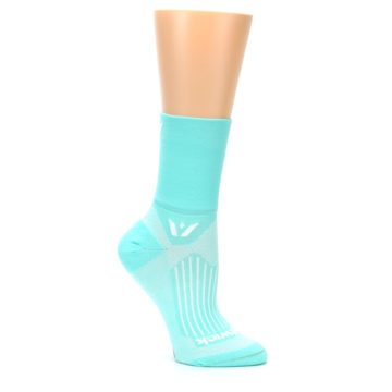Image of Mint Solid Women's Crew Athletic Socks (side-1-26)
