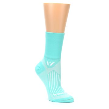 Image of Mint Solid Women's Crew Athletic Socks (side-1-27)