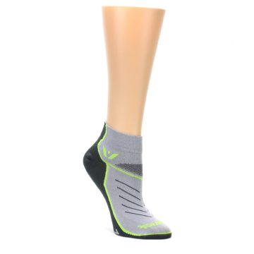 MEDIUM-Gray-Lime-Vibe-Womens-Ankle-Athletic-Socks-Swiftwick
