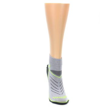 Image of Gray Lime Vibe Women's Ankle Athletic Socks (front-04)