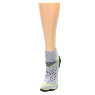 Image of Gray Lime Vibe Women's Ankle Athletic Socks (side-2-front-07)