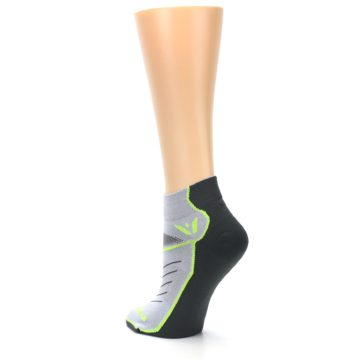 Image of Gray Lime Vibe Women's Ankle Athletic Socks (side-2-back-15)