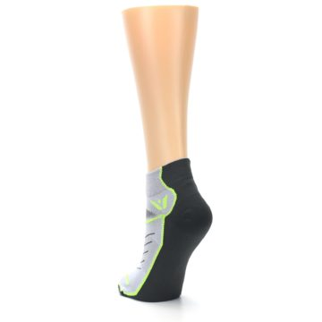 Image of Gray Lime Vibe Women's Ankle Athletic Socks (side-2-back-16)